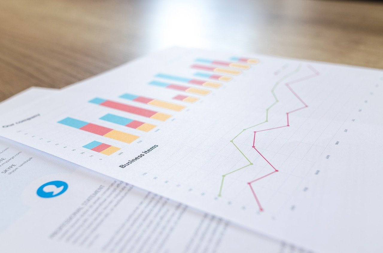 How to build an effective financial plan for your business - a plan with colourful charts lying on a desk.