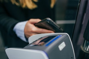 New payment methods to consider - mobile phone held by EFTPOS terminal