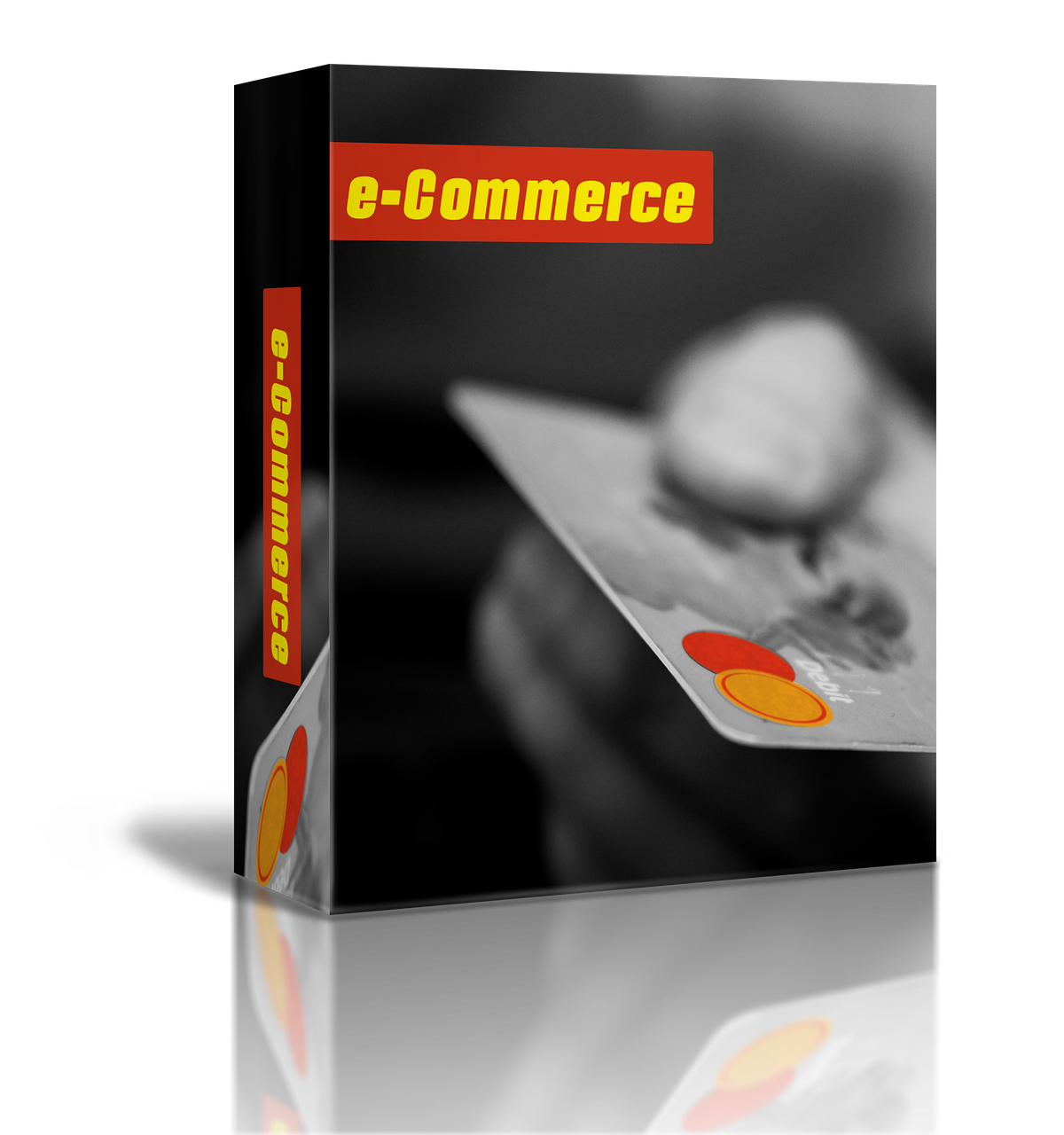 """How to Move Your Brick and Mortar Retail Store Online - A software package labelled """"e-Commerce"""" with a hand presenting a credit card"""